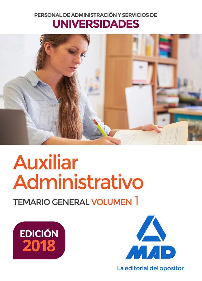 Auxiliar administrativo universidades temario vol 1