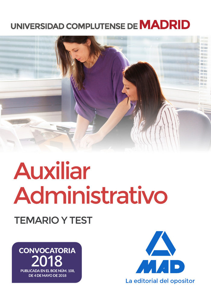 Auxiliar administrativo universidad complutense madrid test