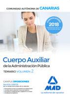 Cuerpo auxiliar administracion publica canarias vol 2