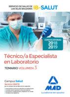 Tecnico/a especialista laboratorio servicio salud vol 3