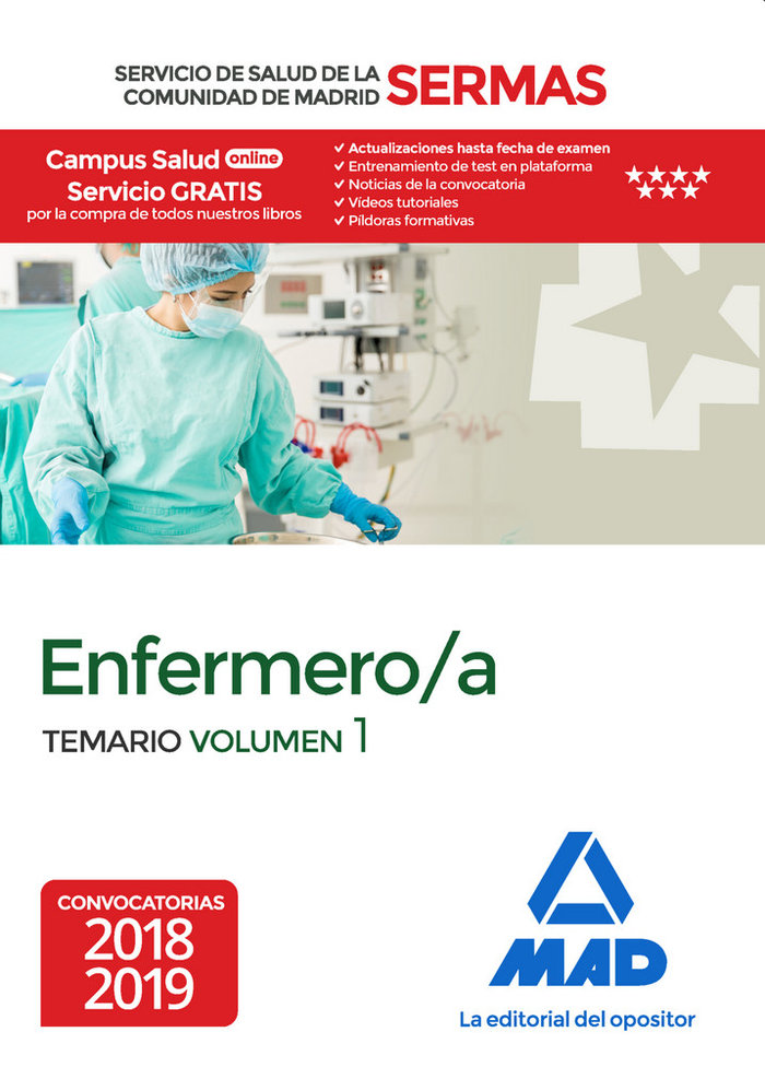 Enfermero/a servicio salud comunidad madrid vol 1