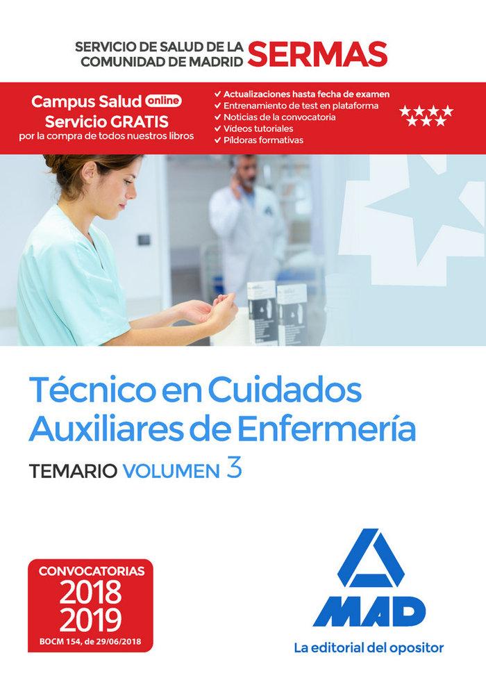 Tecnico cuidados auxiliares enfermeria sermas vol 3