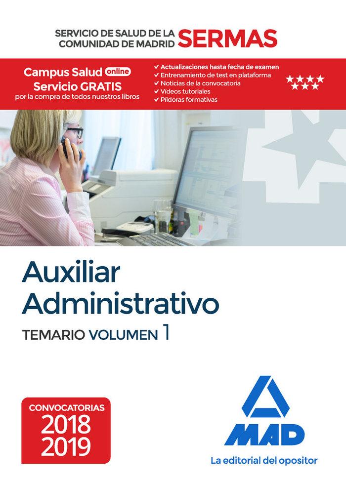 Auxiliar administrativo servicio salud madrid vol 1