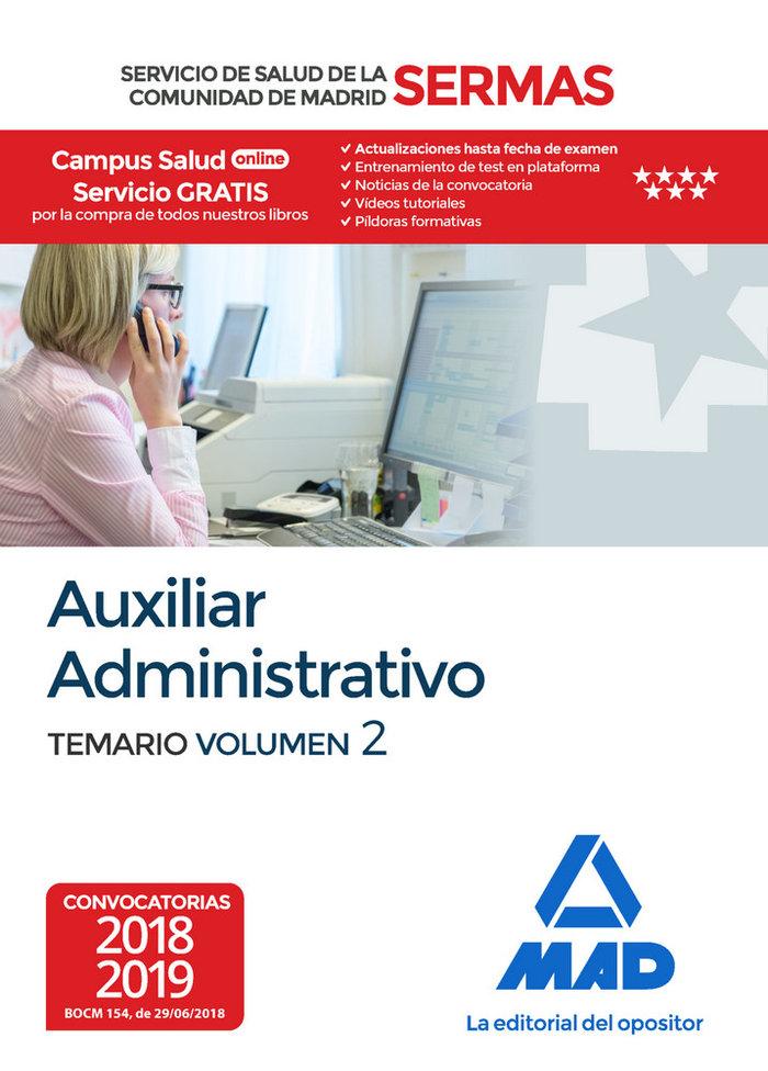 Auxiliar administrativo servicio salud madrid vol 2