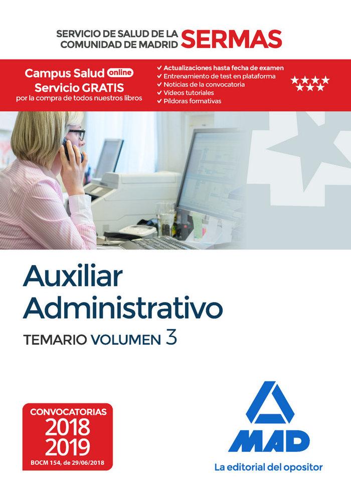 Auxiliar administrativo servicio salud madrid vol 3