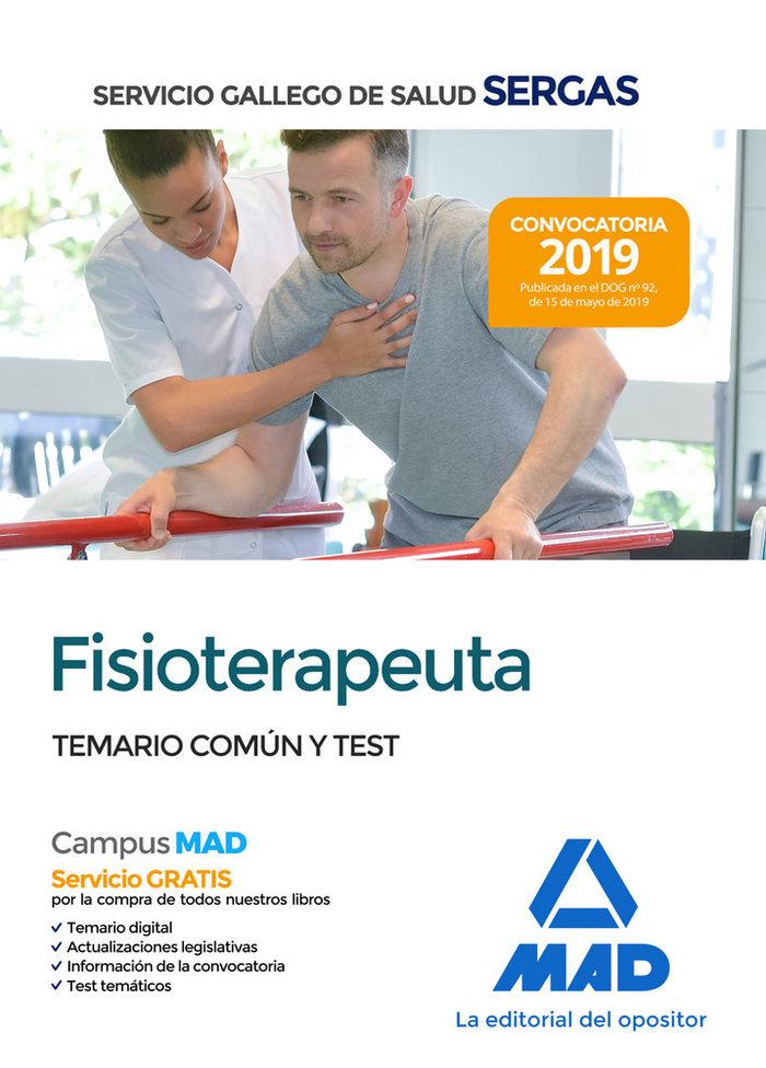 Fisioterapeuta servicio gallego salud temario comun
