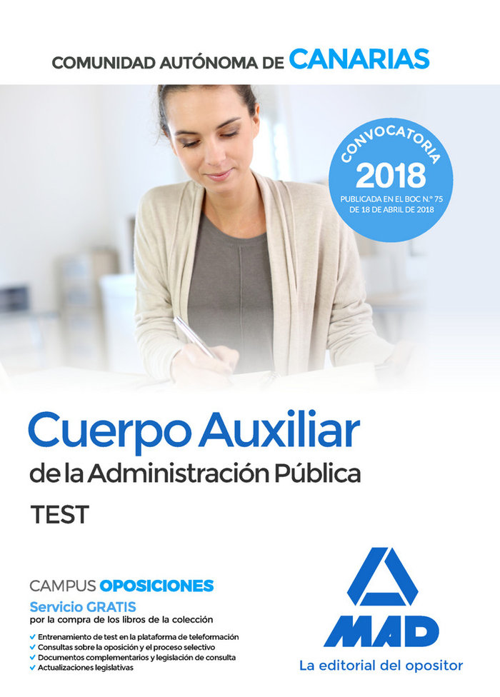 Cuerpo auxiliar administracion publica canarias test
