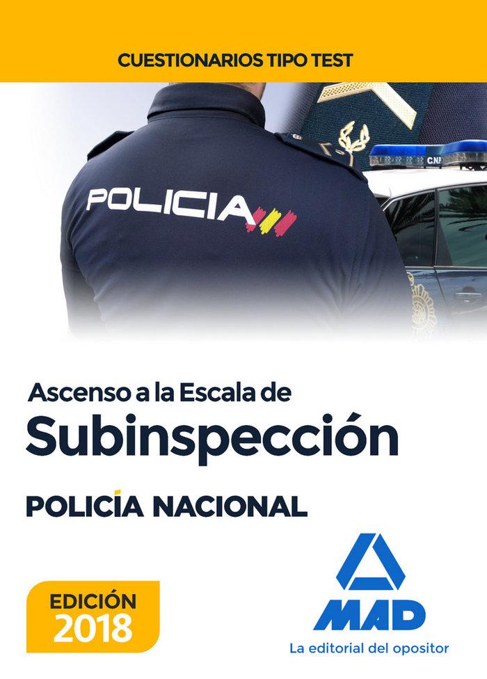 Ascenso escala subinspeccion policia nacional test