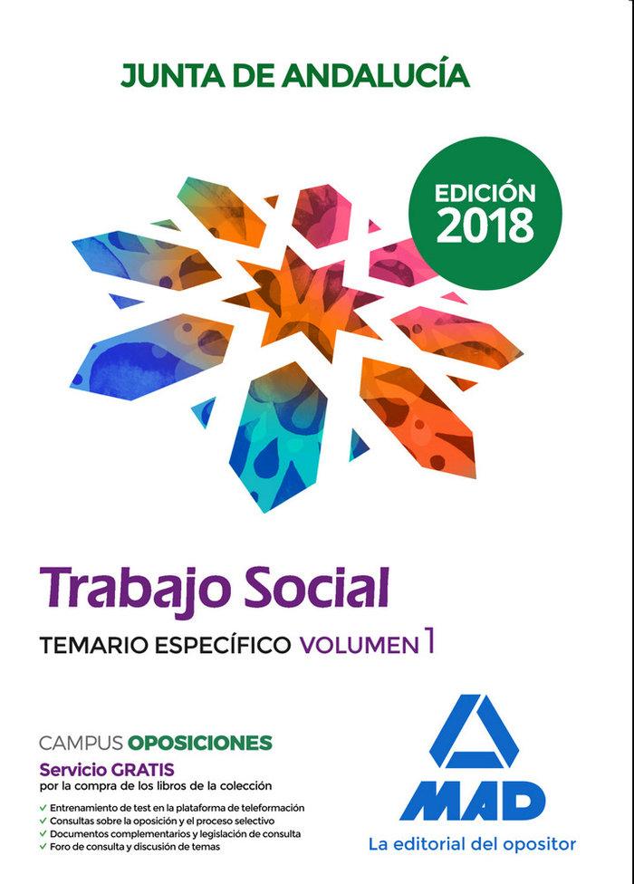Trabajador social junta andalucia vol 1 temario especifico