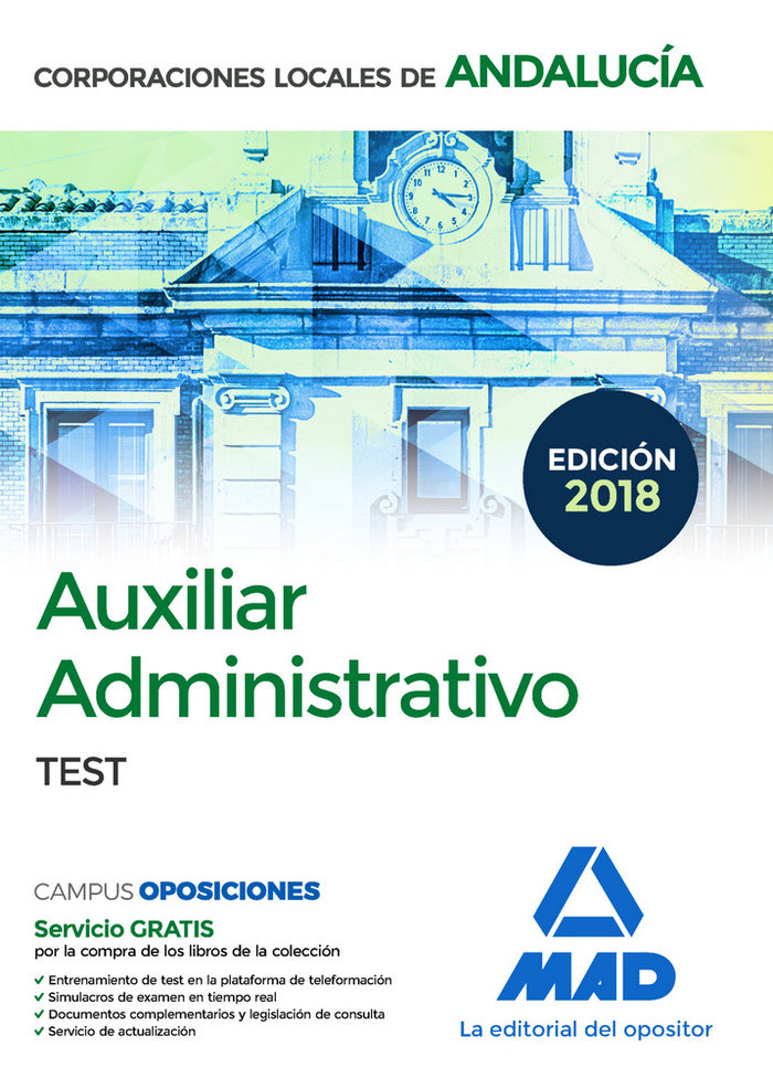 Auxiliar administrativo 2018 corporaci local andalucia test