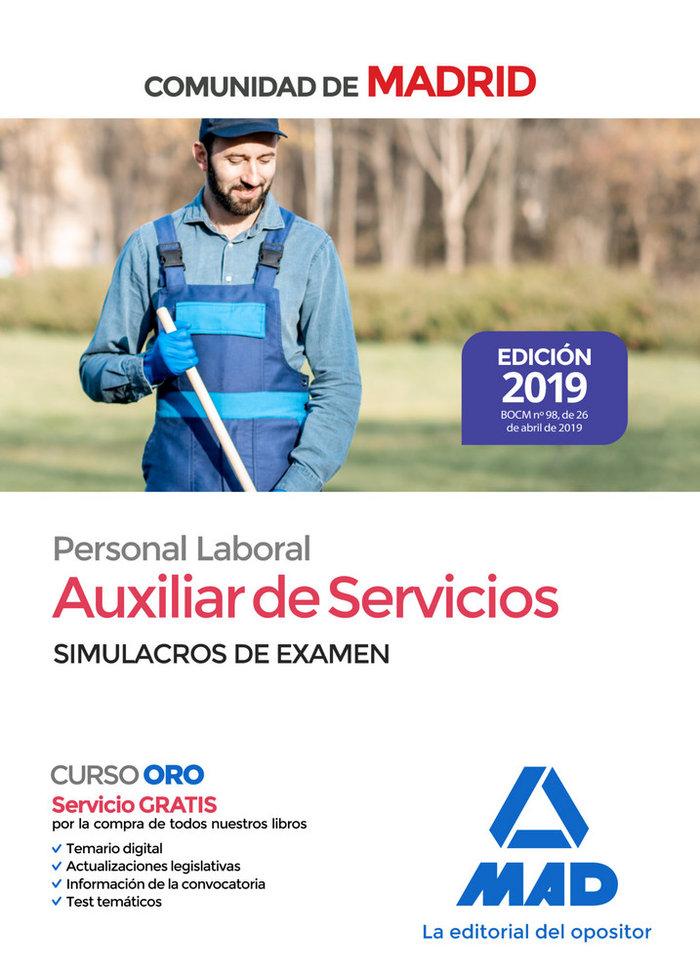 Auxiliar servicios personal laboral comunidad madrid simula