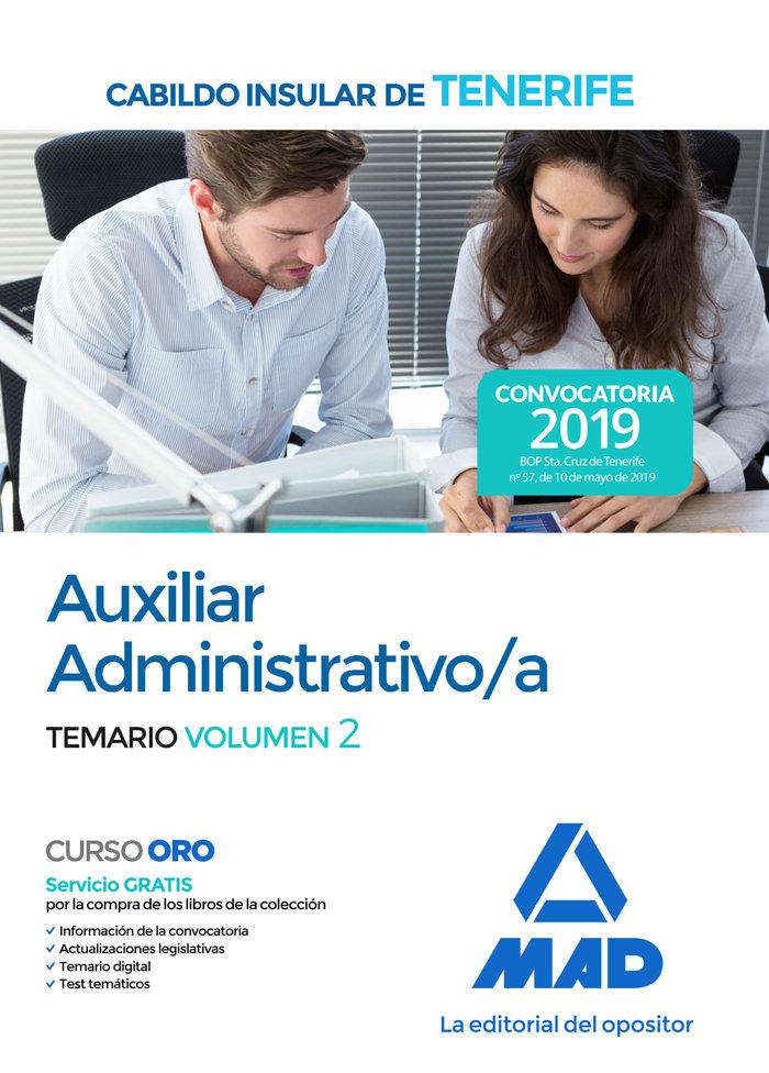 Auxiliar administrativo/a cabildo insular tenerife vol 2