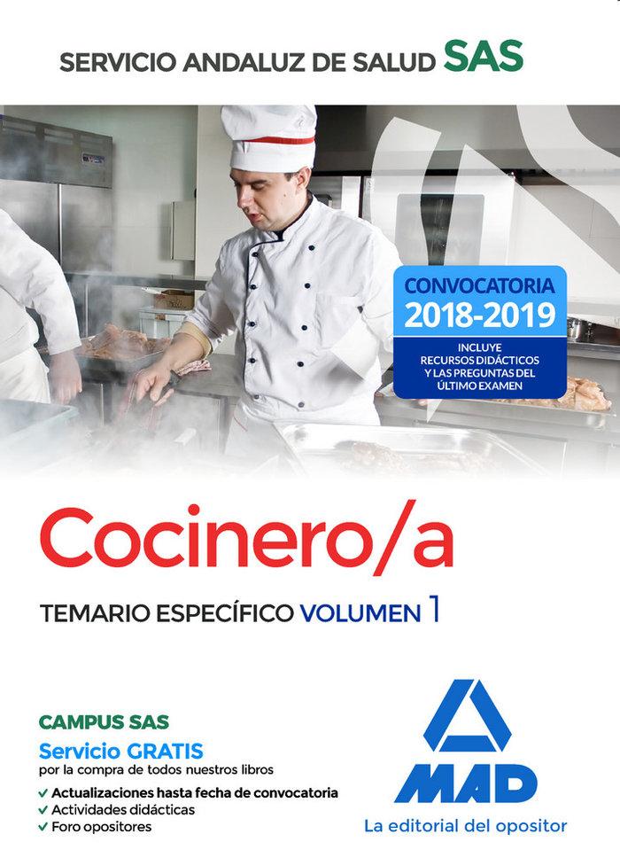 Cocinero/a servicio andaluz de salud temario especifico 1