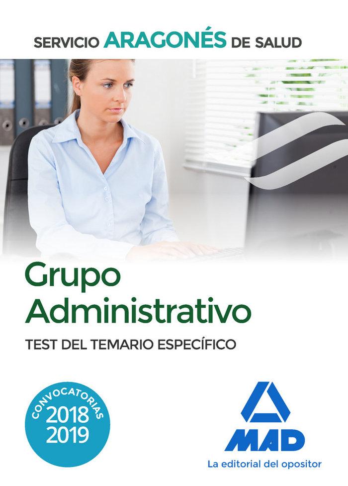 Grupo administrativo servicio aragones salud test