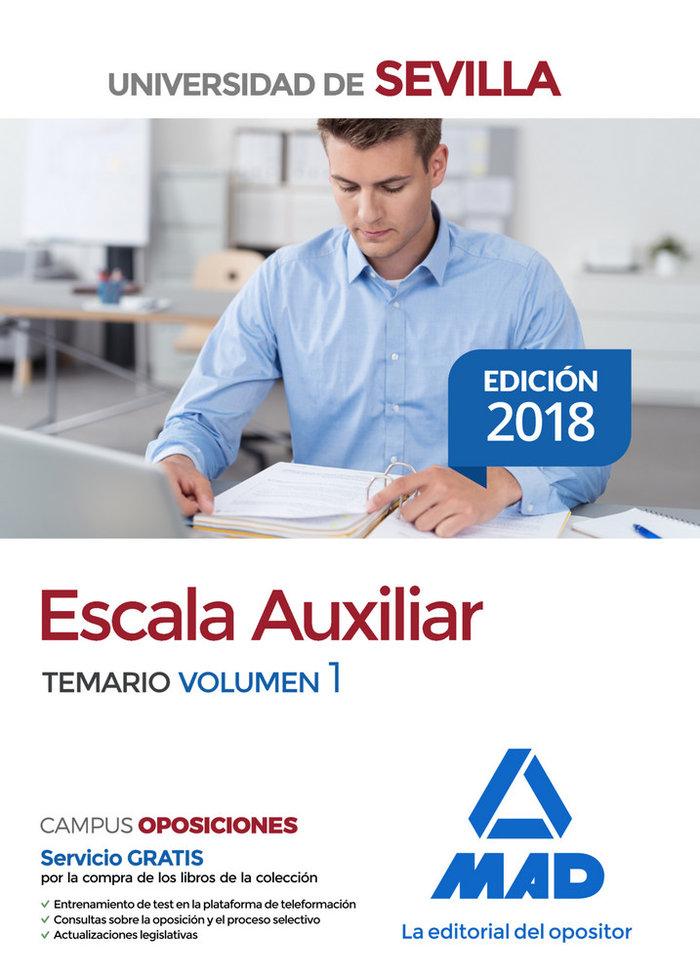 Escala auxiliar universidad sevilla temario volumen 1