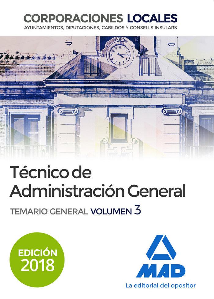 Tecnico  de administracion general de corporaciones locales.