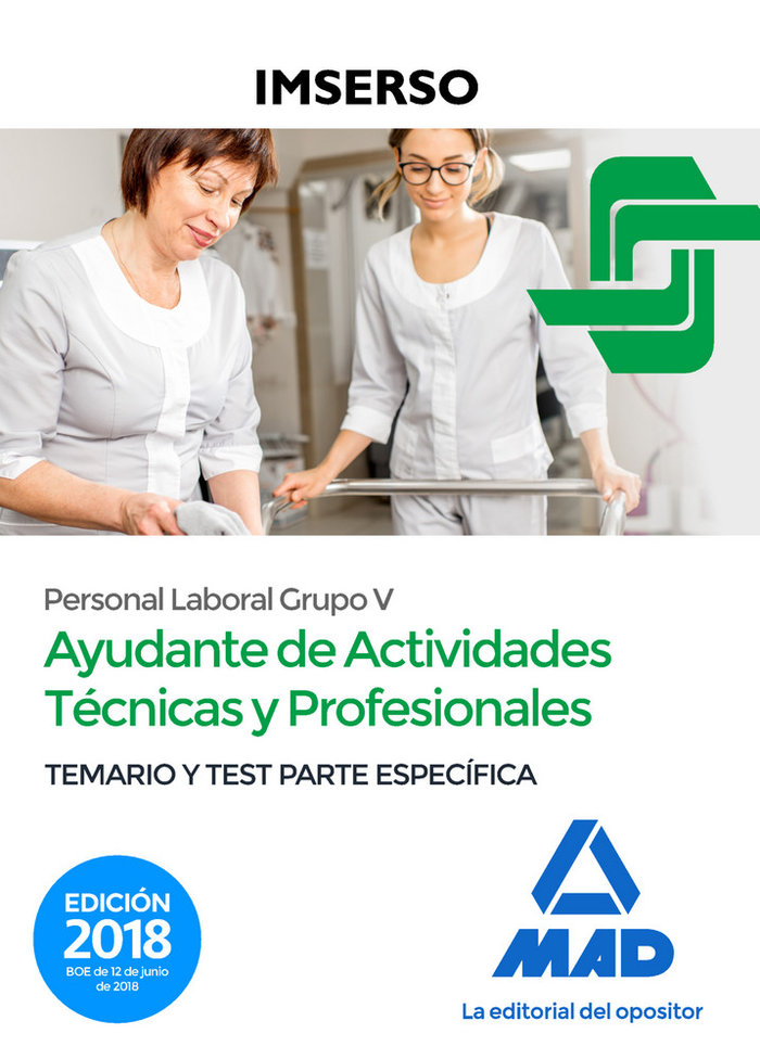 Ayudantes actividades tecnicas y profesionales del imserso