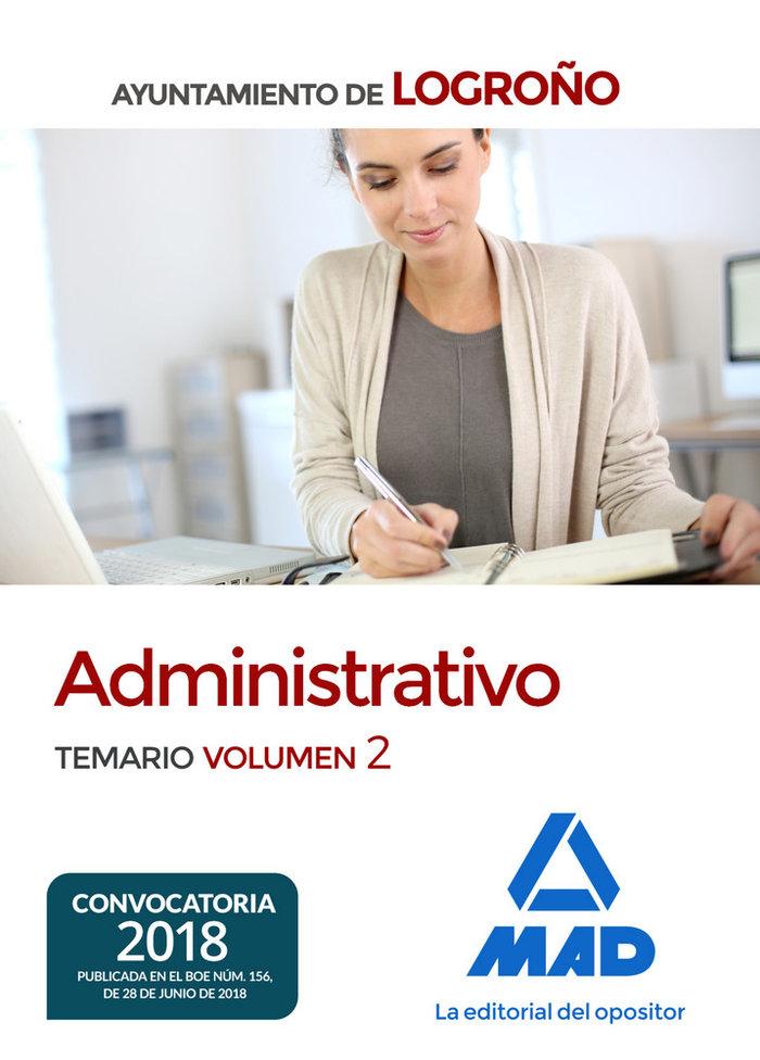 Administrativo ayuntamiento logroño temario volumen 2