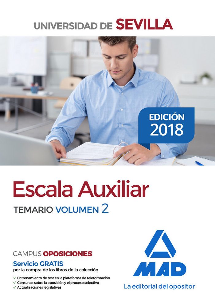 Escala auxiliar universidad sevilla temario vol 2