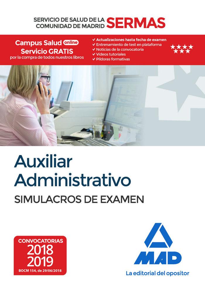 Auxiliar administrativo sermas simulacros examen madrid
