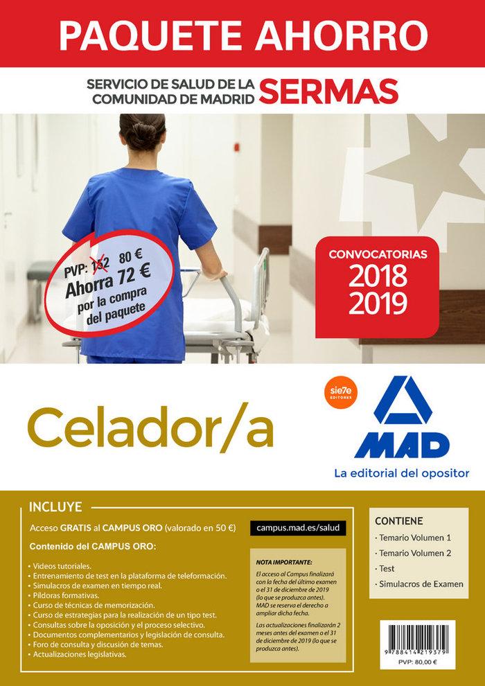 Paquete ahorro celador/a servicio de salud madrid 18