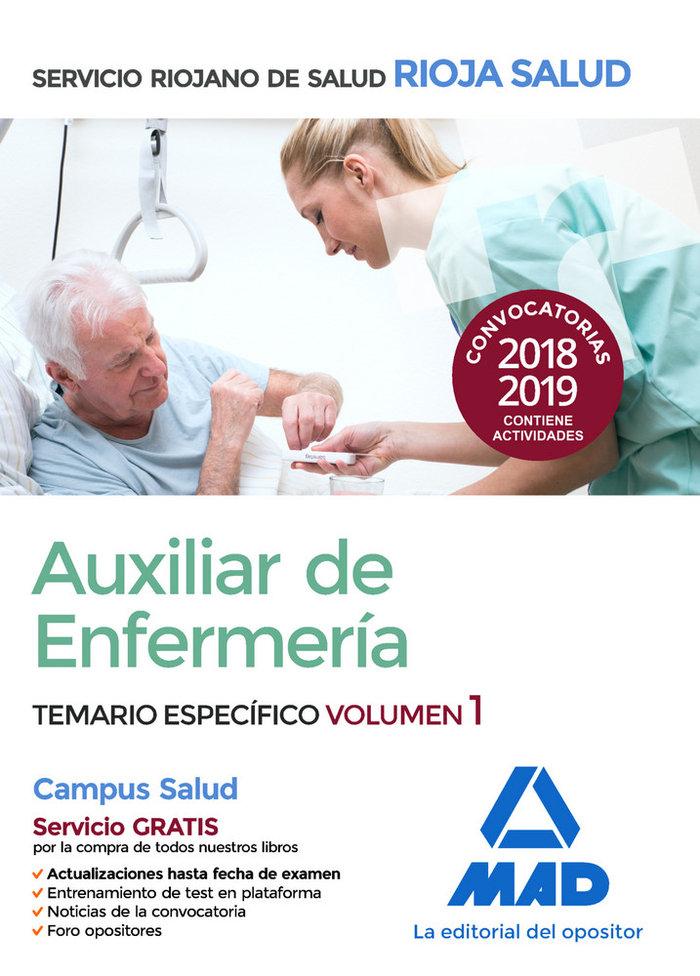Auxiliar enfermeria servicio riojano salud temario vol 1