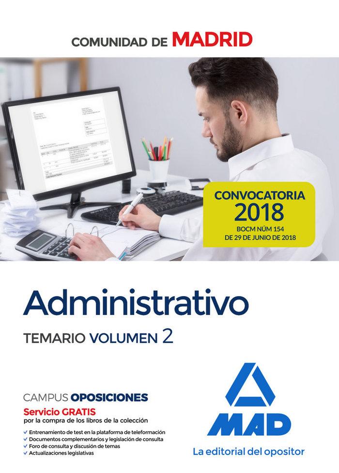 Administrativo comunidad madrid temario volumen 2