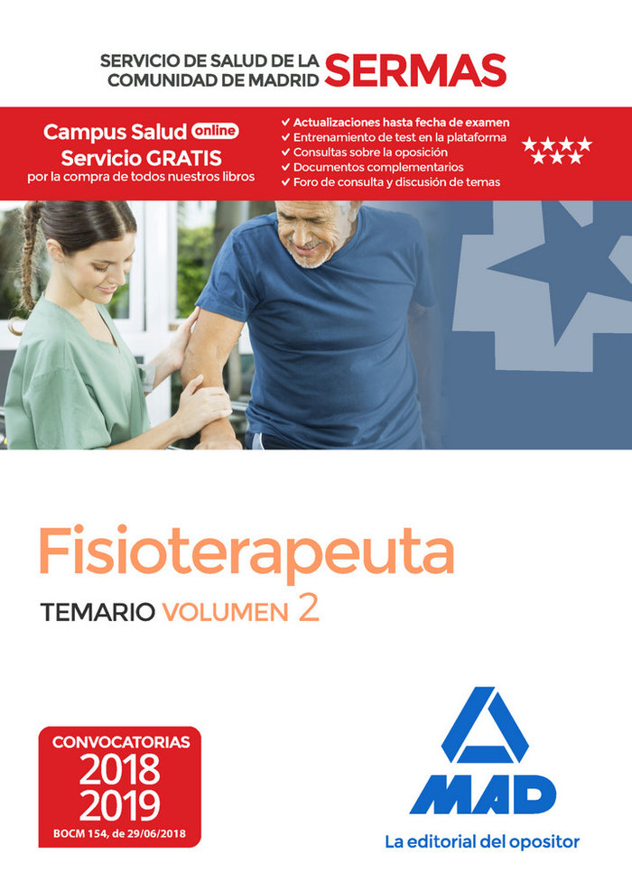 Fisioterapeuta servicio salud comunidad madrid vol 2