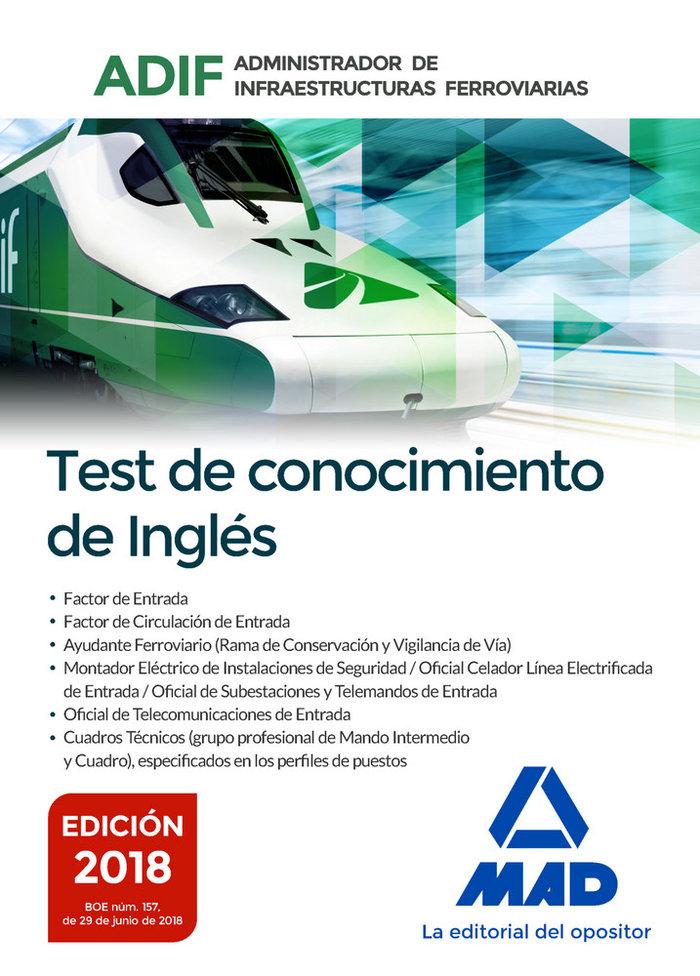 Adif test conocimientos ingles