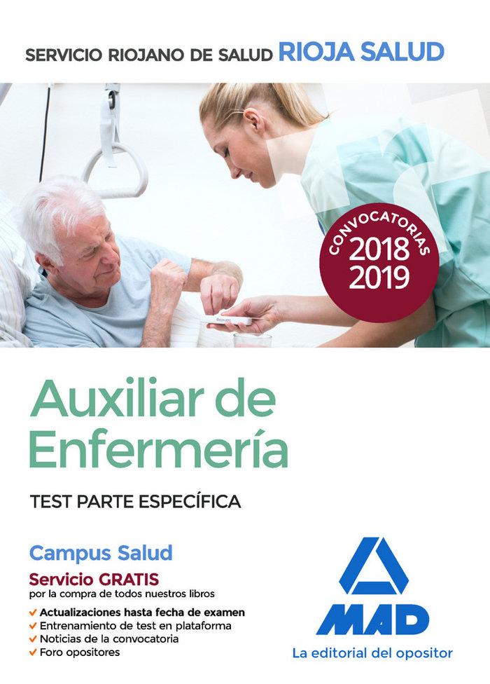 Auxiliar de enfermeria del servicio riojano de salud. test p
