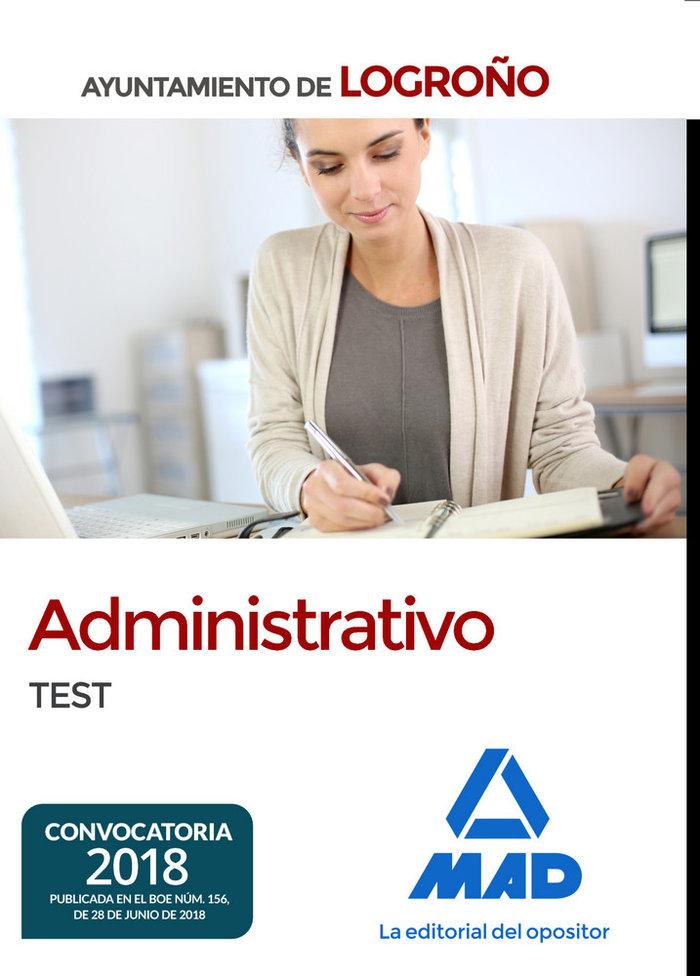Administrativo del ayuntamiento de logroño. test