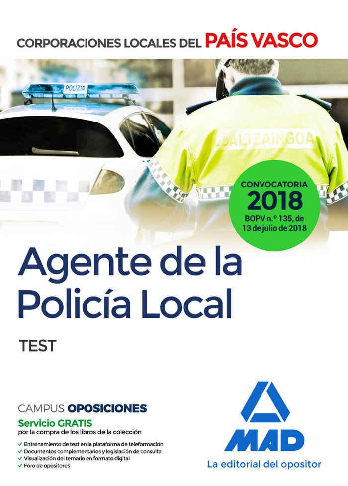 Agente de la policia local test pais vasco 2018