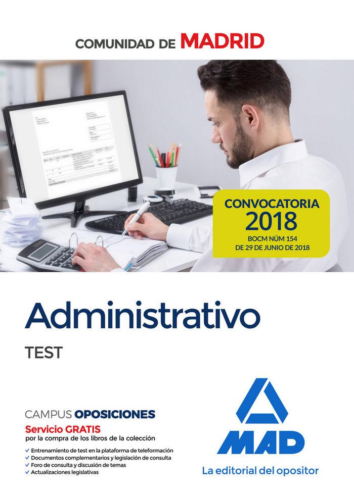 Administrativo de la comunidad de madrid. test