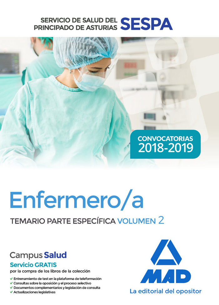 Enfermero/a servicio salud principado asturias vol 2
