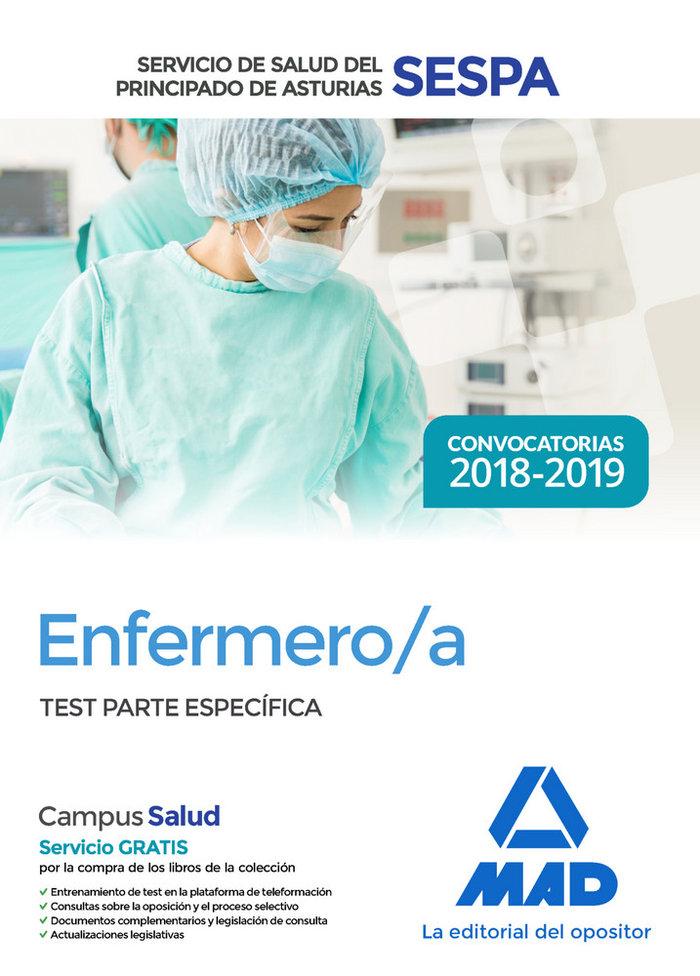 Enfermero/a servicio salud principado asturias test