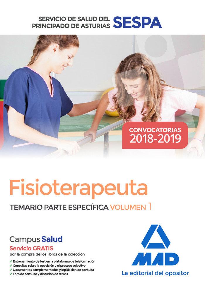 Fisioterapeuta servicio salud principado asturias vol 1