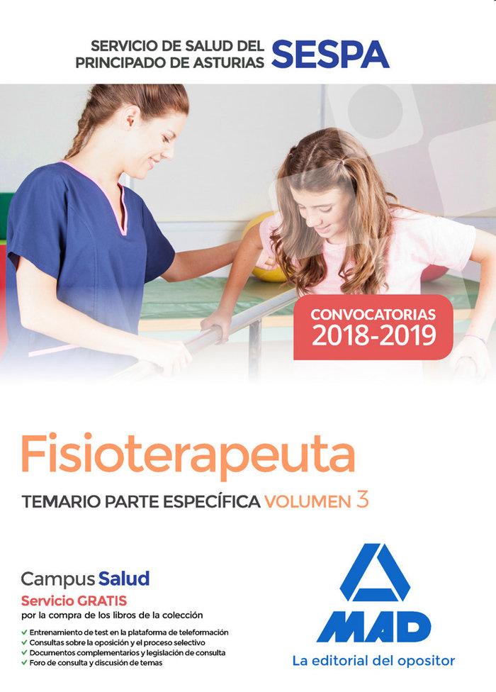 Fisioterapeuta servicio salud principado asturias vol 3