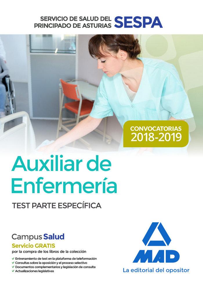 Auxiliar enfermeria sespa asturias test parte especifica