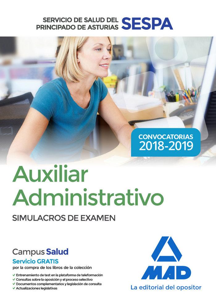 Auxiliar administrativo servicio salud principado simulacro