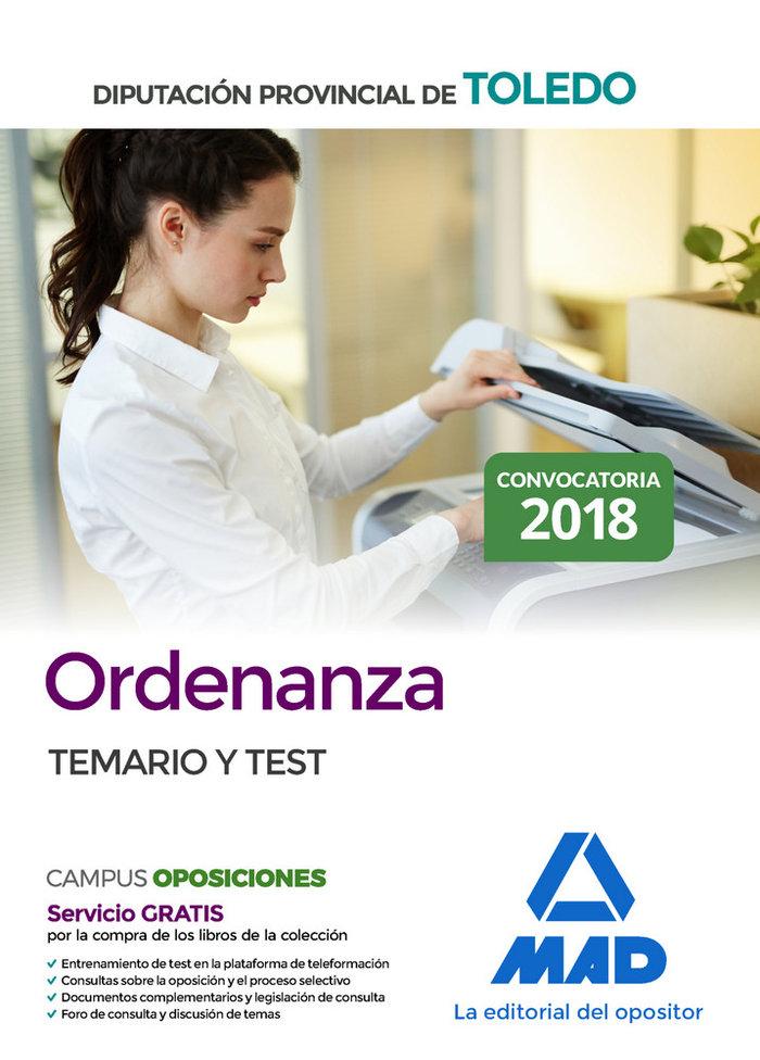 Ordenanza de la diputacion provincial de toledo. temario y t