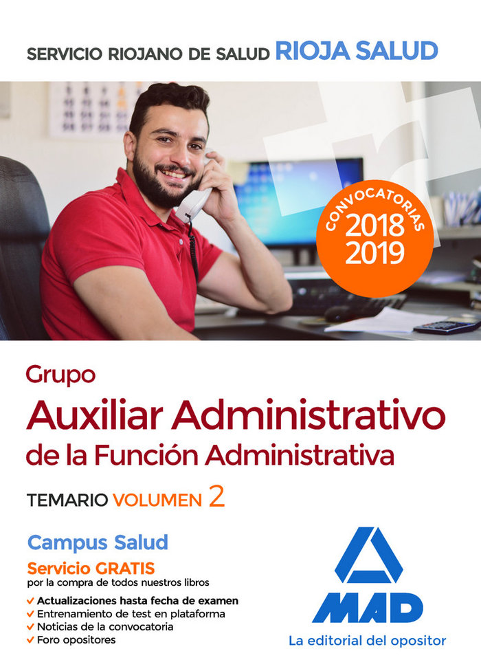 Grupo auxiliar administrativo funcion administrativa vol 2