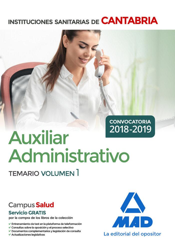 Auxiliar administrativo instituciones sanitarias cant vol 1