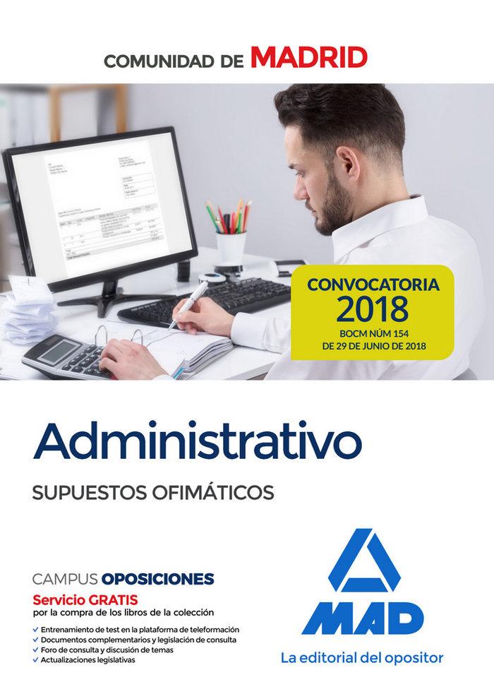 Administrativo comunidad madrid supuestos ofimaticos