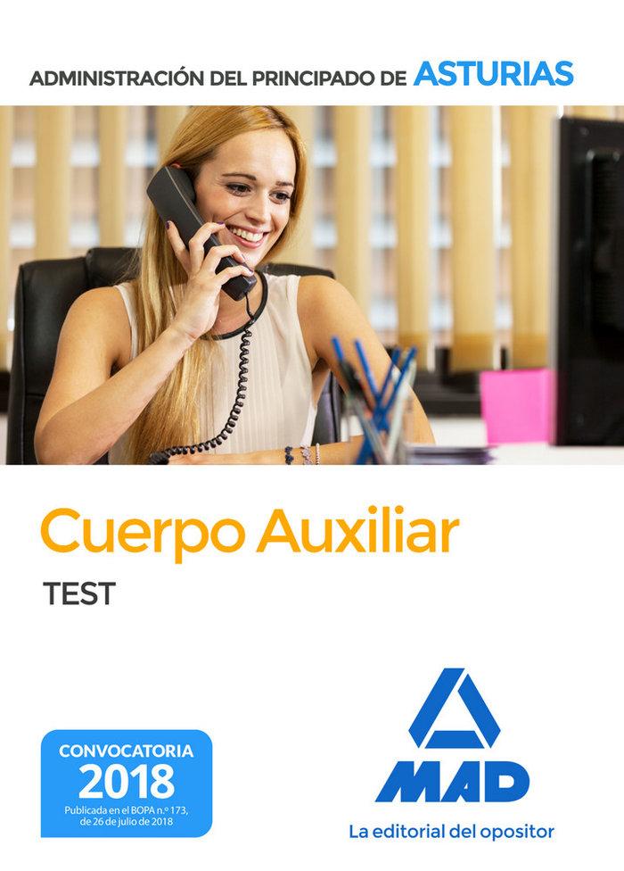 Cuerpo auxiliar administracion principado asturias test