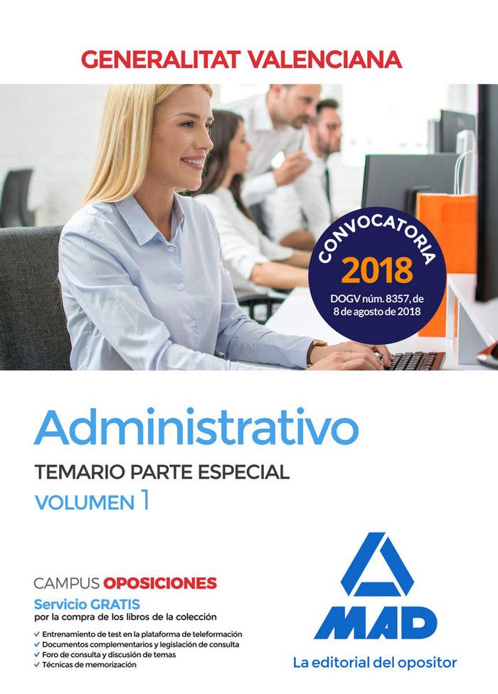 Administrativo generalitat valenciana temario vol 1