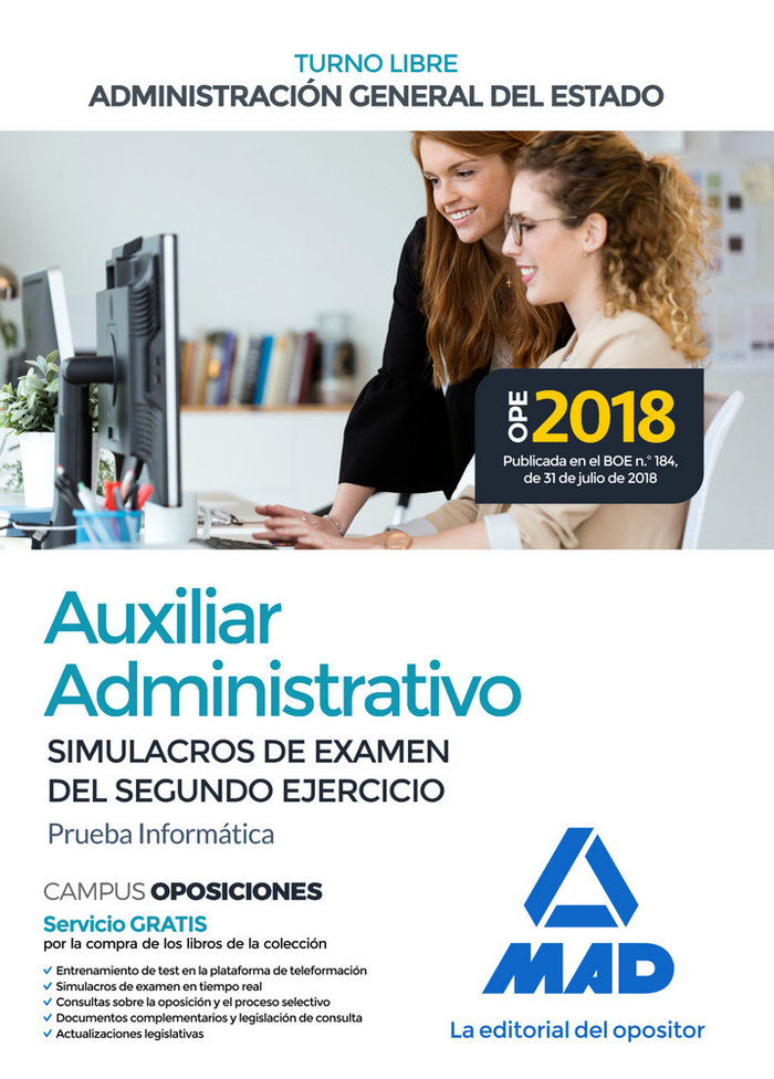 Aux administrativo estado simulacros segundo ejercicio 2019