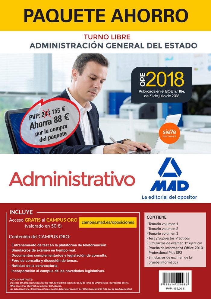 Paquete ahorro administrativo del estado. ahorra 88 €