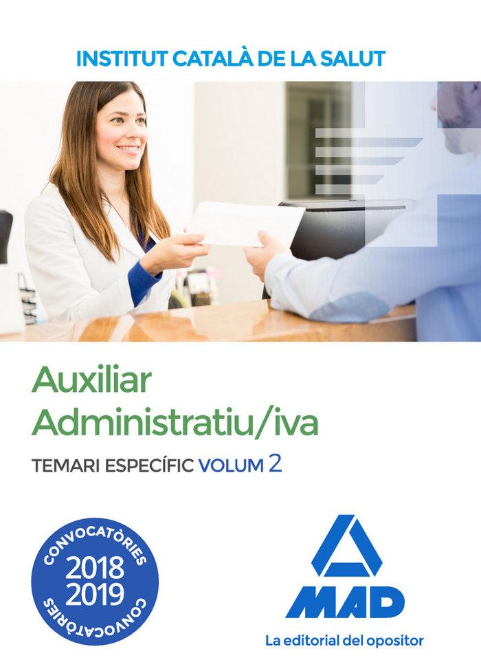 Auxiliar administratiu/iva de linstitut catala vol 2