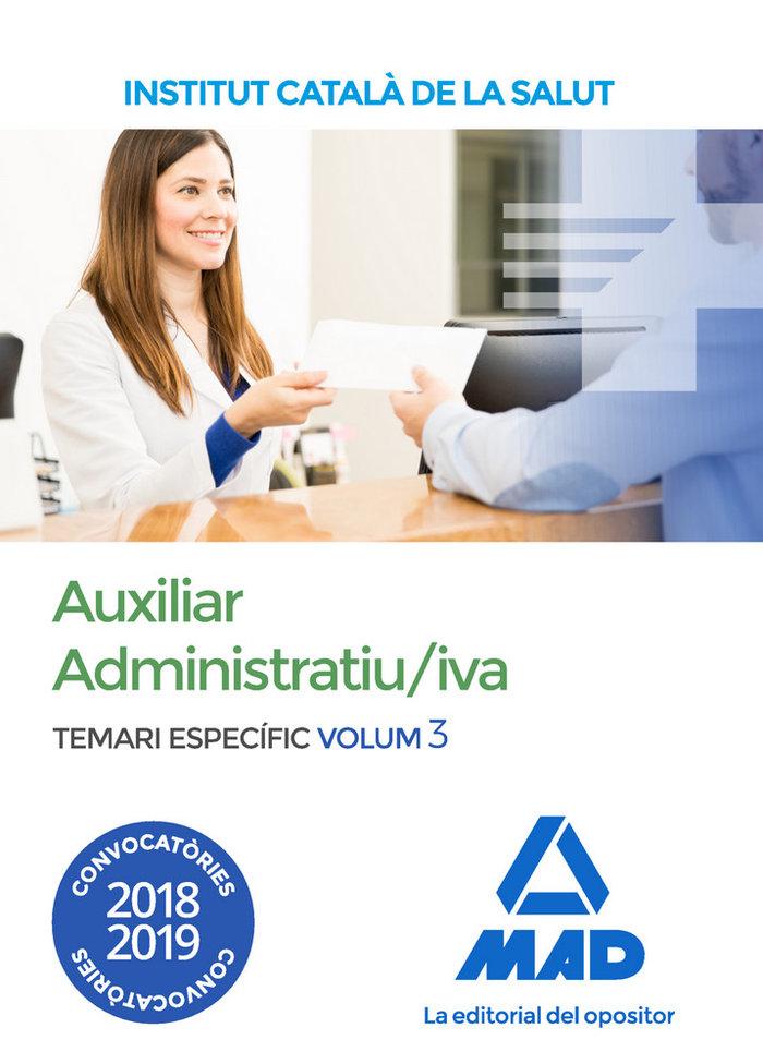 Auxiliar administratiu linstitut catala vol 3