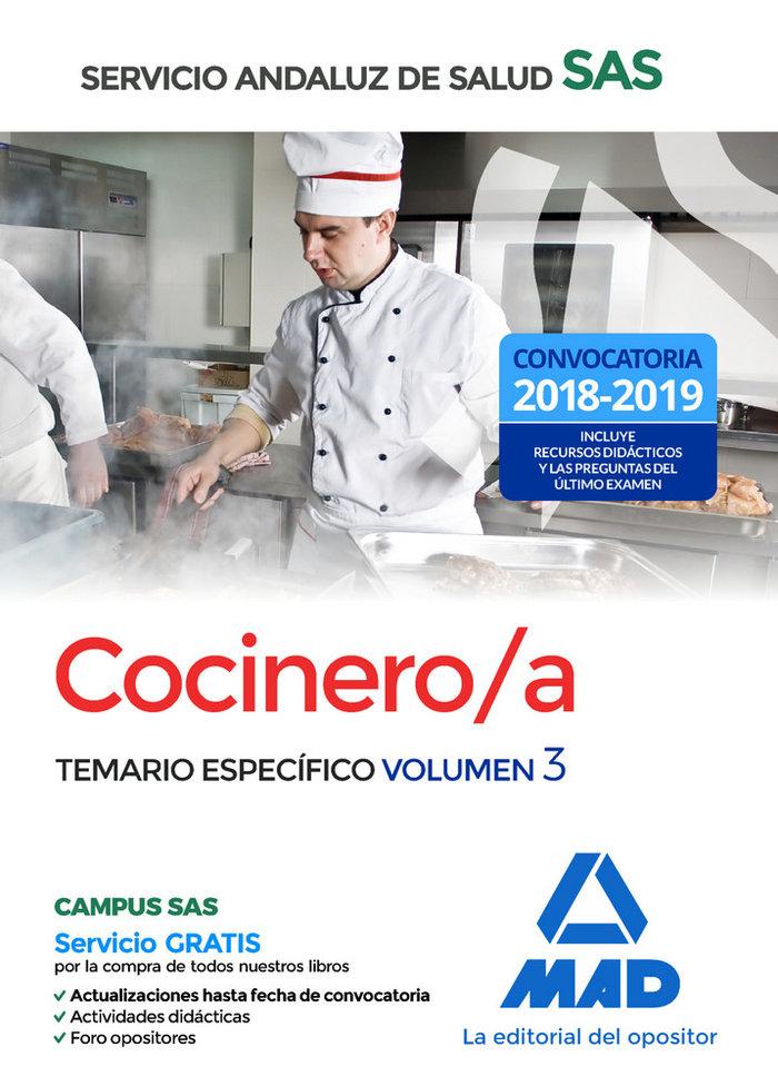 Cocinero/a servicio andaluz salud temario especifico vol 3
